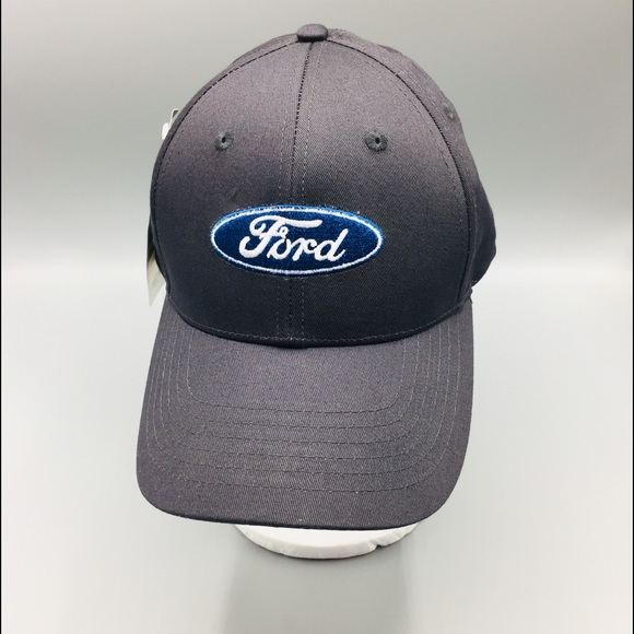 Ford Charcoal Adjustable Hat with Logo